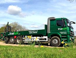 trueturf delivery truck