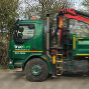 trueturf speedy delivery lorry